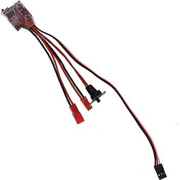 2 mandos a Distancia para Coche con Mini Cepillo electr/ónico 30 A Cepillado ESC