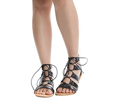 b16ed4e8a753 Soho Shoes Women s Ankle High Lace up Tie up Gladiator Sandal Flats