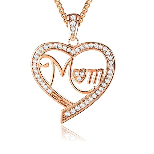 Amazon ado glo for mom love heart pendant necklace rose gold ado glo for mom love heart pendant necklace rose gold fashion jewelry for women aloadofball Image collections