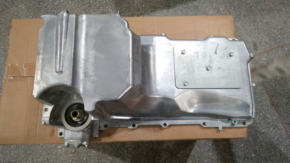 Engine Oil Pan w//o Sensor Hole V8 6.0L 6.2L 5.3L 4.8L Compatible with 08-17 ESCALADE ESV EXT EXPRESS SILVERADO SUBURBAN TAHOE GMC SAVANA SIERRA YUKON XL ISUZU NPR NPR HD replace 12627903 GMP53C