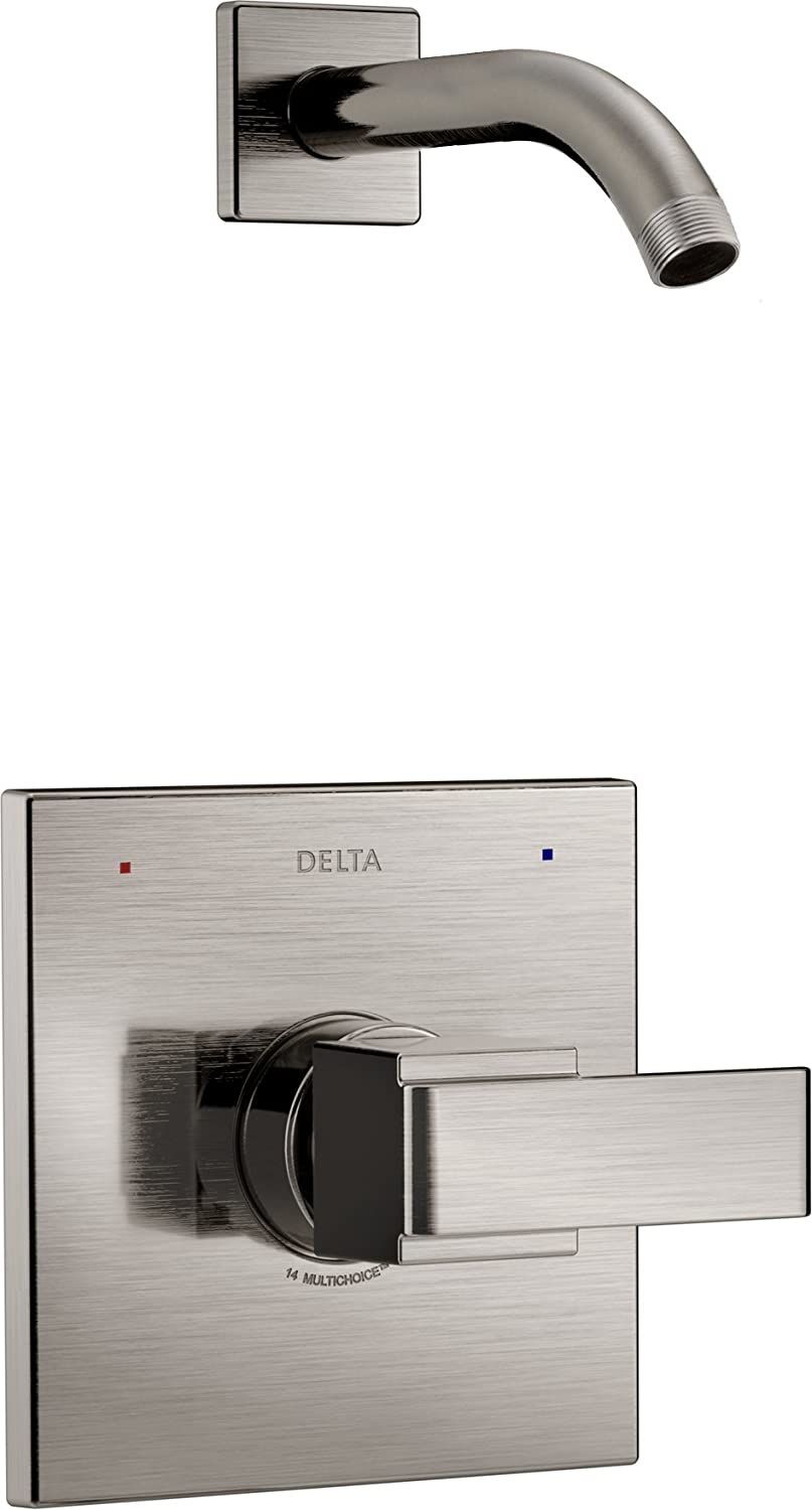 Delta Faucet Ara 14 Series Single-Function Shower Trim Kit, Stainless T14267-SSLHD (Valve and Shower Head Not Included)