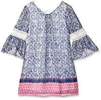 Amy Byer Girls' Bell Sleeve Peasant Dres...