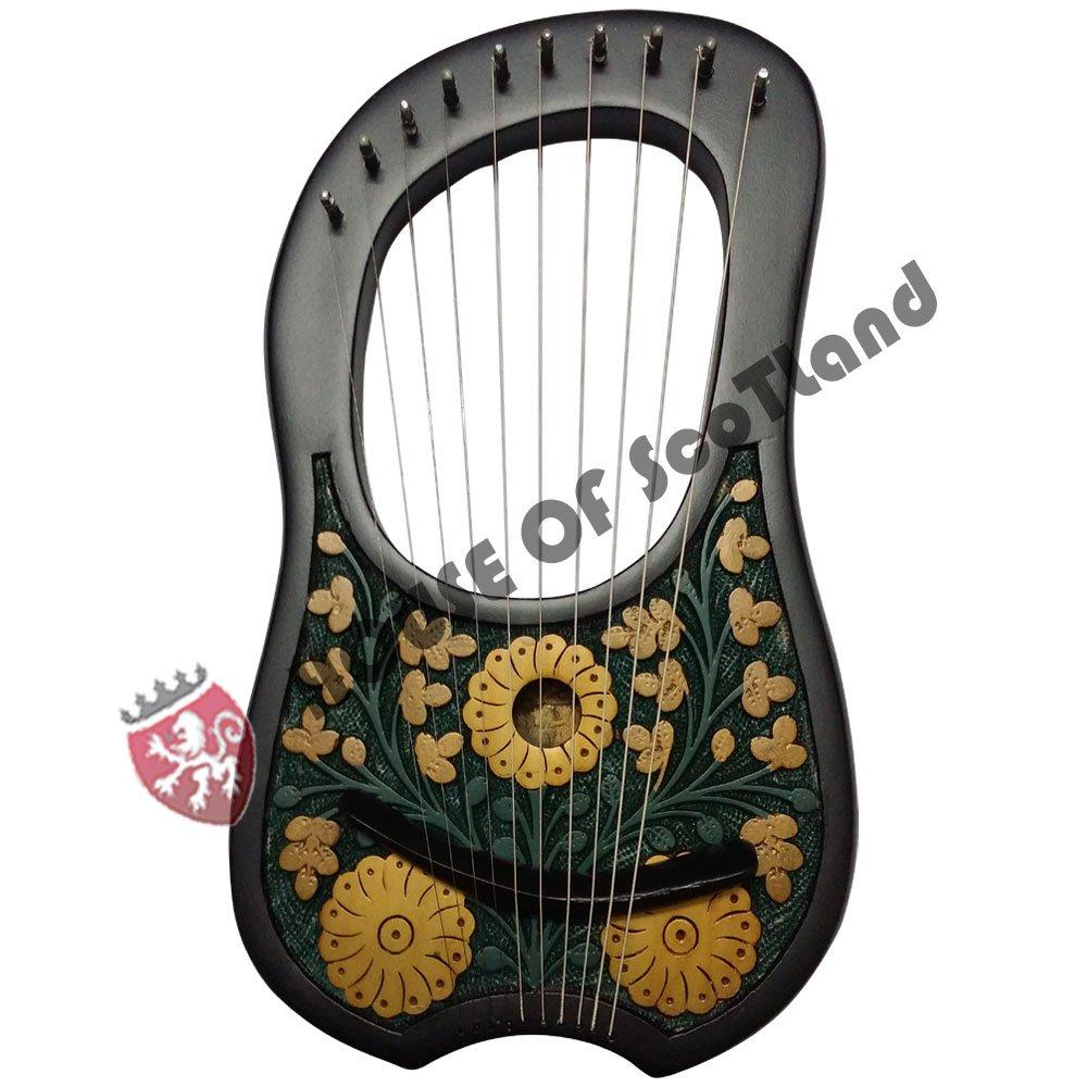 Nueva Lira (Arpa cadena de 10metal instrumentos Shesham madera/Lyra Arpa/LIRA (Harpe/caso AC Products