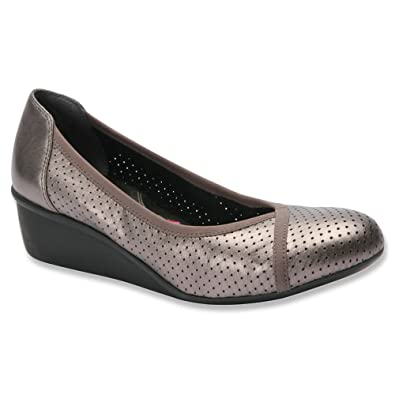 Womens Ros Hommerson Evelyn Pumps Leather Pewter
