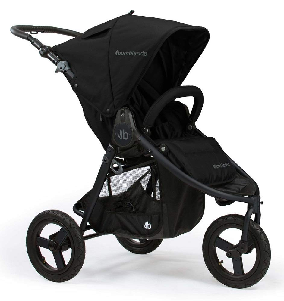 Bumbleride Indie Matte Black Adjustable Handle Running Foldable Stroller