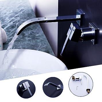 auralum cascata rubinetto lavabo alto cromato lavandino monocomando miscelatore per bagno e cucinaacqua