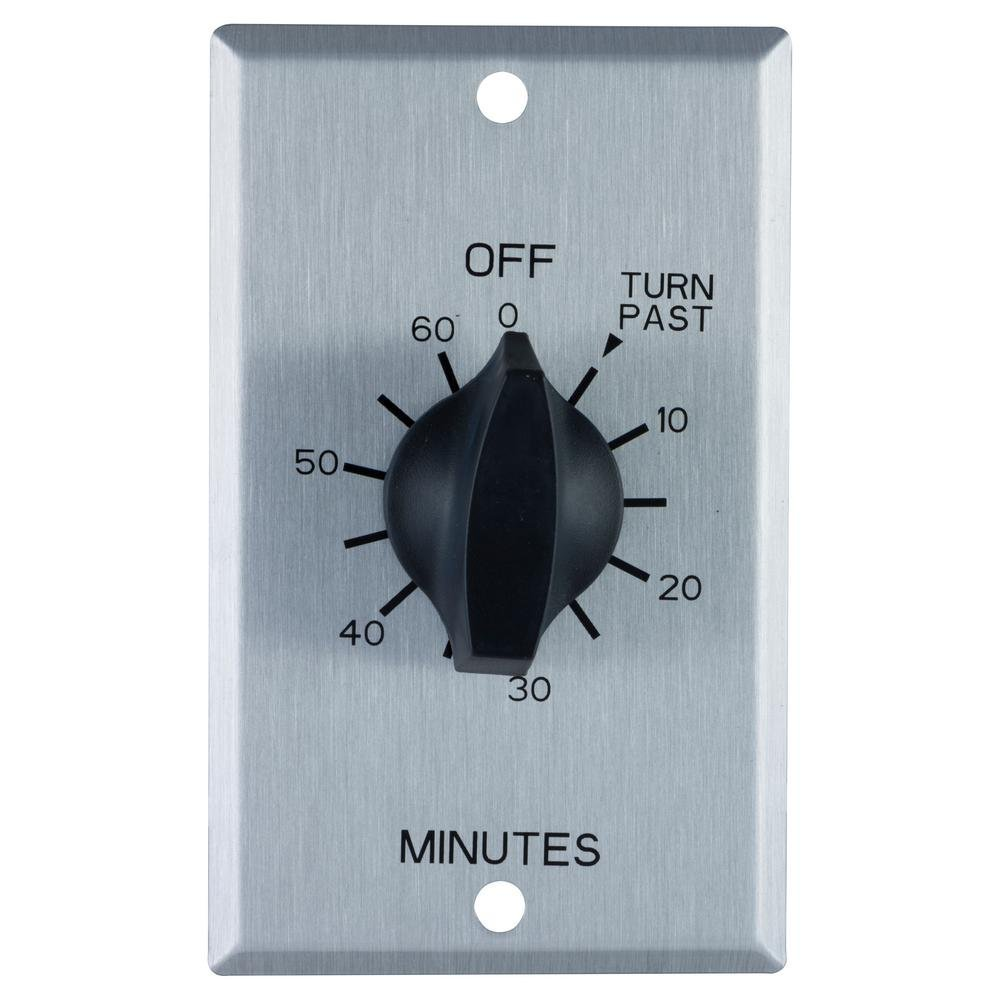 15 Amp 60-Minute In-Wall Spring wound Stainless Steel Timer