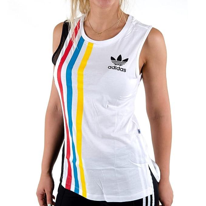 Camiseta Tirantes (Tank Top) adidas – Blocked blanco talla: 32 XS (X