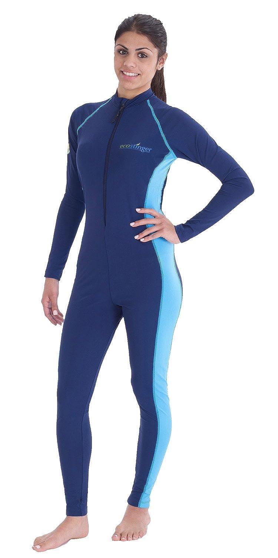 7c8bc632c14fb EcoStinger Women Full Body Cover Swimsuit UV Protection UPF50+ Chloresist  Navy Blue at Amazon Women s Clothing store