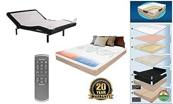 Amazon.com: Base de cama de una pieza con mando a distancia ...