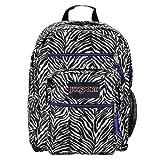 JanSport Big Student School Backpack (White/Black Cosmo Zebra/Primal Purple)