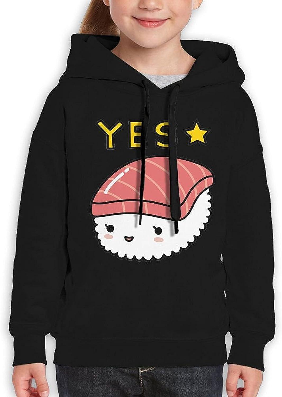 Starcleveland Teenager Pullover Hoodie Sweatshirt Kawaii Sushi Yes Teens Hooded Boys Girls