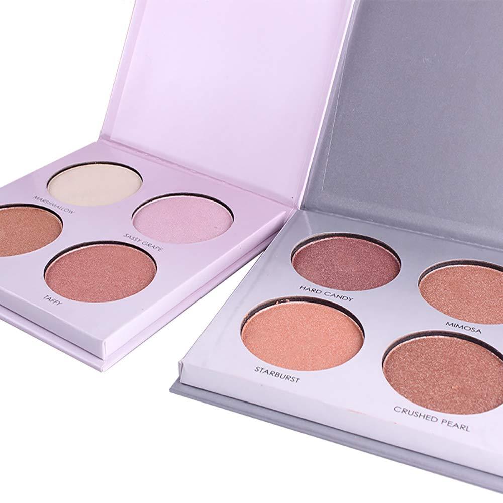 wewa98698 4 Color Shimmer Glow Kit Highlighter Powder Palette Base Illuminating Makeup N5