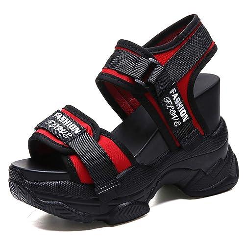 Amazon.com: Aogula Sandalias gruesas con cuña para mujer: Shoes