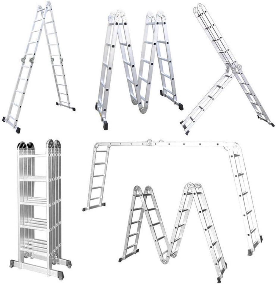 LARS360 6 en 1 Escalera de Tijera 5.5m Escalera Multifunción Plegable Escalera Articulada con Plataforma 4x5 Escalera de Aluminio Combinada Multifuncional, Cargable hasta 150KG: Amazon.es: Bricolaje y herramientas