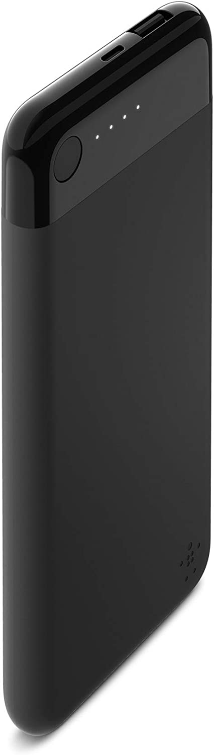 Belkin Boost Charge Power Bank 5K with Lightning Connector (Lightning Power Bank, MFi-Certified Portable Charger for iPhone/iPad/AirPods), Black (F7U045btBLK)
