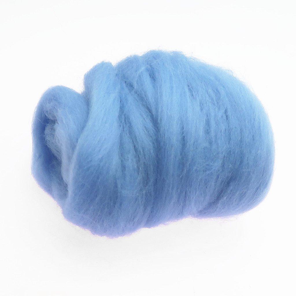 Baoblaze 10 g//piece Wool Fibre//Wool Roving For Needle Felting Hand Spinning DIY Handcrafts Skin Color