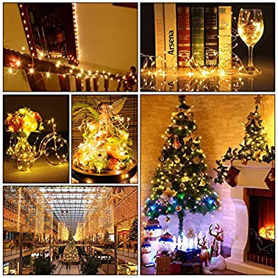 Mlambert 24-Pack Fairy String Lights Battery Operated, 7.2ft Wire Firefly Lights 20 Micro LEDs, Waterproof LED Starry String Lights for Party Wedding Bedroom Christmas Table Decoration DIY