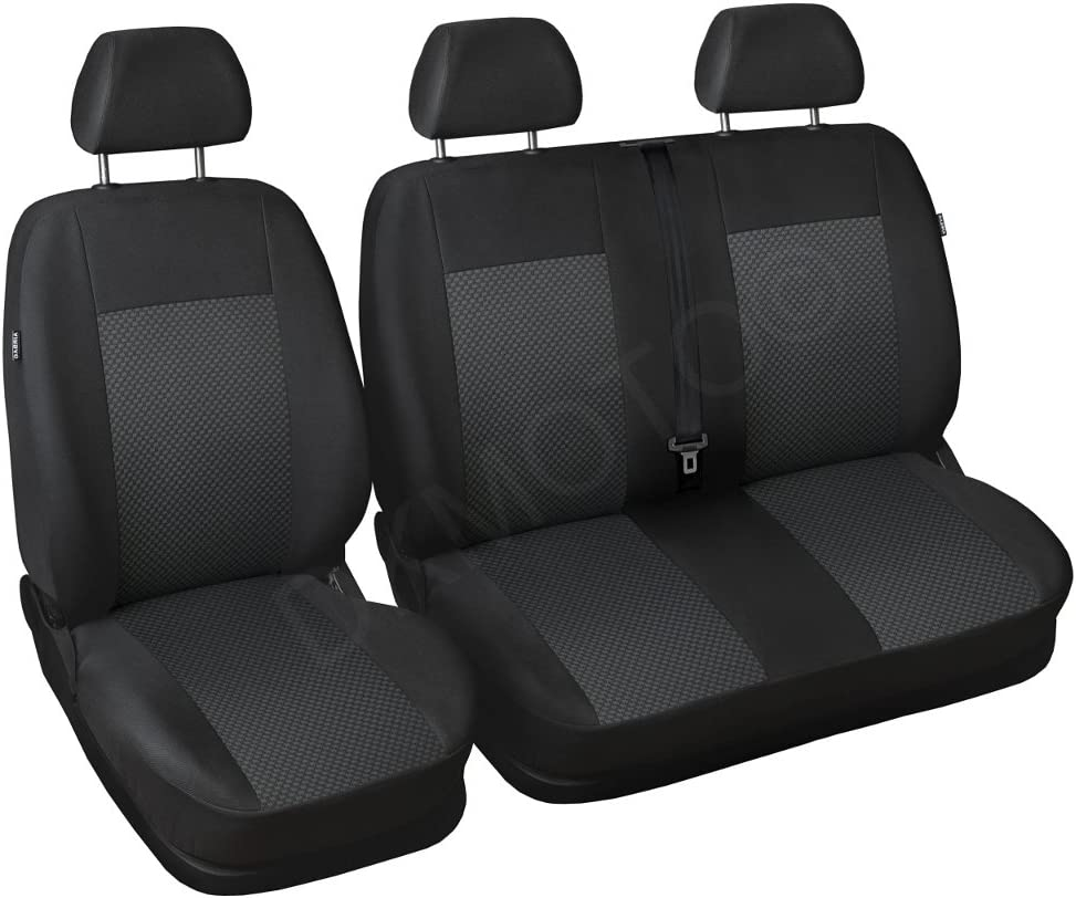 DKMOTO DK541AP3 Tailored Van Seat Covers for Ford Transit Custom without Fold Down Table