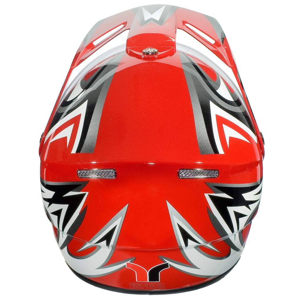 RX-962 Crosshelm Quad Cross Enduro Motocross Offroad Helm rueger 53-54 Gr/ö/ße:XS Farbe:Orange V//RCK