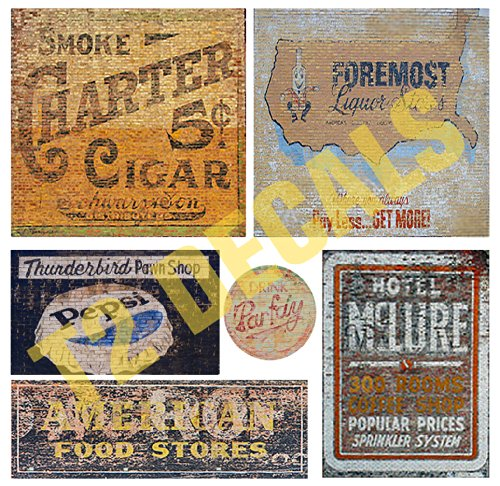 O Scale Ghost Sign Building / Structure Decals #18 for sale  Delivered anywhere in USA