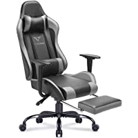 Deals on Vitesse Gaming Chair w/Footrest Racing Style Office Chair