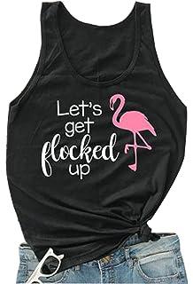 3531a727b0 Amazon.com: Funny Pink Flamingo Shirt Zero Flocks Given Summer Beach ...