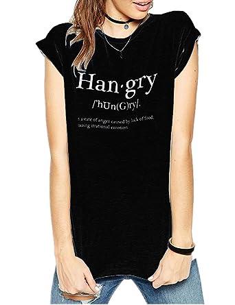 4d95259a9de Amazon.com  Haola Women s Summer Fashion Words Printed Tops Funny t ...