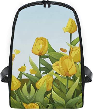 Personalized Tulips Student Backpack