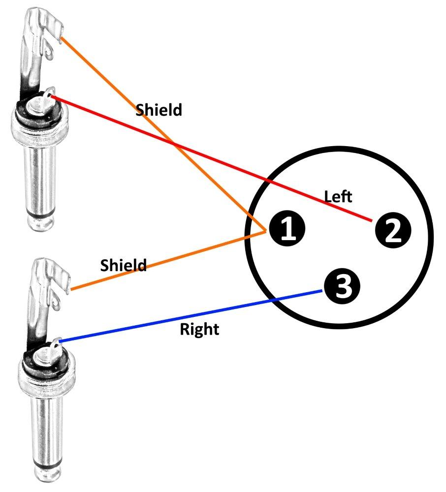 50cm c/âble adaptateur XLR 3 pins broches femelle vers double jack 6.35mm mono C30297 Aerzetix
