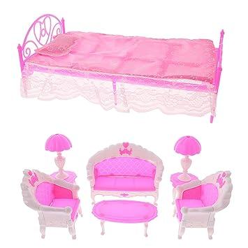 Sharplace Puppenhaus Schlafzimmer und Wohnzimmer Möbel Set aus ...