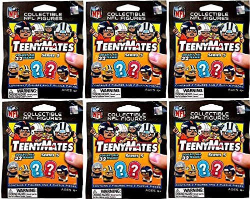NFL TeenyMates Series 5 Linemen LOT of 6 Mystery Packs (Teenymates Football)