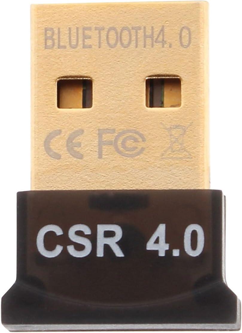 Aukru® USB nano Adaptador Bluetooth V4.0,Bluetooth 4.0 Adaptador USB con LED   soporta Bluetooth Estéreo   Plug Play   compatible Windows XP / Vista / 7/8 /8.1   Compatible Bluetooth 2.1 + EDR