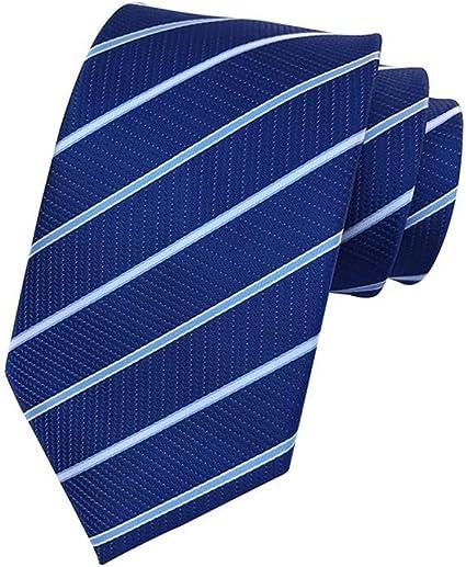 Zjuki corbata 8 cm Rayas Corbata Oscura de Negocios Informal de ...