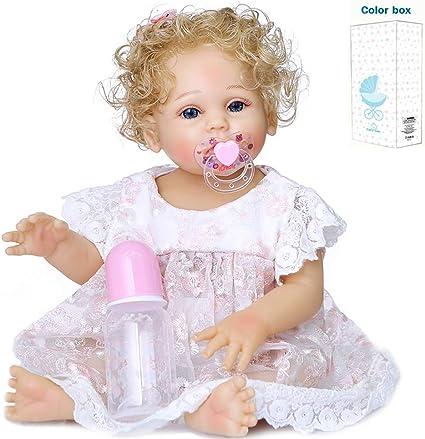 Princess Reborn Baby Dolls Silicone Full Body Girls Reborn Preemie Adorable Doll