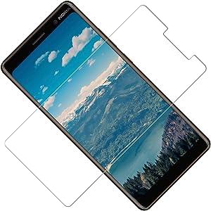 TOCYORIC Protector Pantalla Nokia 7 Plus[2 Pack], Cristal Templado Nokia 7 Plus, Vidrio Templado con [Alta Definicion] [9H Dureza] [Sin Burbujas] [Anti-Huella] [2.5D Borde Redondo]