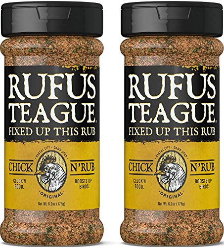 Rufus Teague: Dry Rub - 6.2oz Shaker - Award Winning Premium Rubs for Meats & Veggies - Masterful Blends of Herbs and Spices - Elevates Your Meals - Natural Ingredients - Gluten-Free & Kosher-2pk