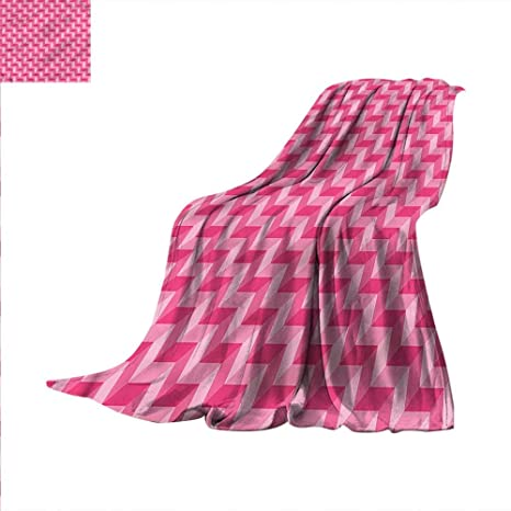 Amazon Chevron Throw Blanket Vibrant Pink With 40D Effect Velvet Magnificent Pink Chevron Throw Blanket