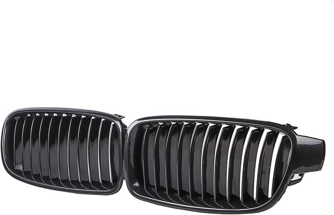 Viviance Paire De Fibre De Carbone Abs Grille De Rein Avant pour BMW F30 F31 F35 2012-Up