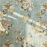 HaokHome DR3073 Non Woven Vintage Flower Wallpaper Blue Home bedroom WallPaper 20.8'' x 393.7''