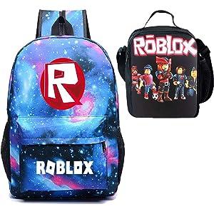 0a106cb2b4bd Amazon.com: Kid Roblox Waterproof Lunch Box One Shoulder Bag Roblox ...
