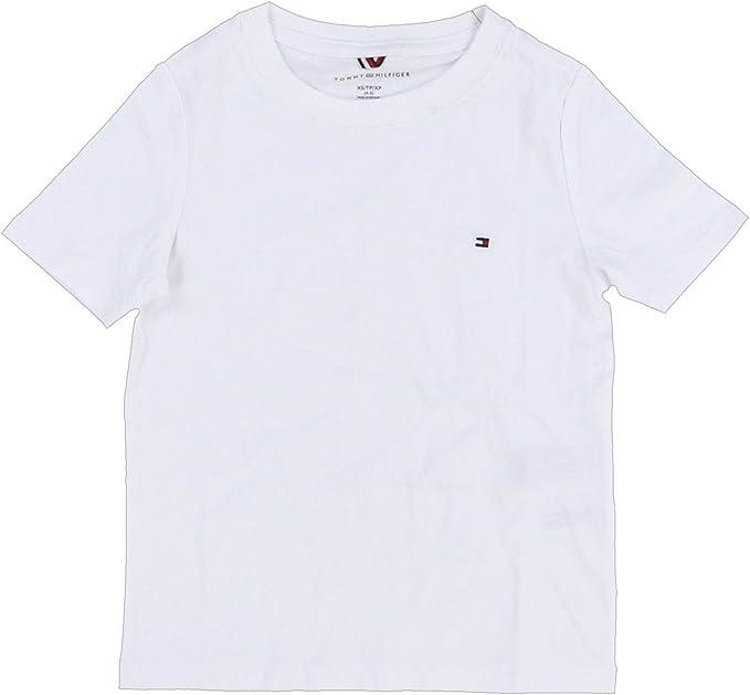 Tommy Hilfiger Boys T-Shirt Kids Solid Crew Neck Tee Big Boys Children Logo New