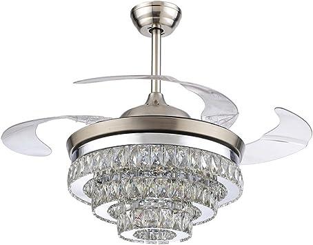 COLORLED - Ventilador de techo de cristal europeo (42 pulgadas ...