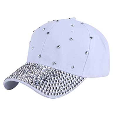 738351dd3 Women Men Fashion Baseball Cap Hats Handmade Rhinestone Beads Bling ...
