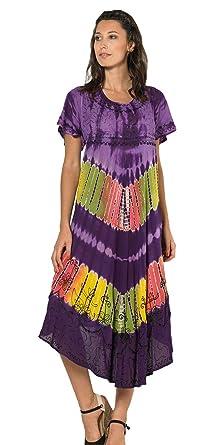 magasin en ligne bb7dd 84600 Coline - Robe Longue colorée - Couleur : Mauve - Taille ...