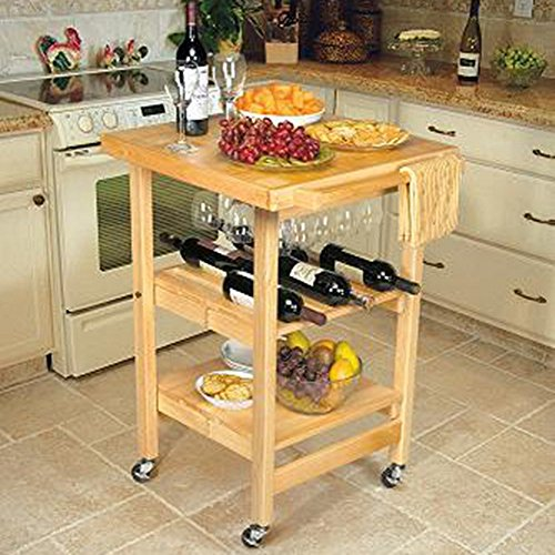 Oasis Concepts All Wood Entertainer Folding Table, Natural