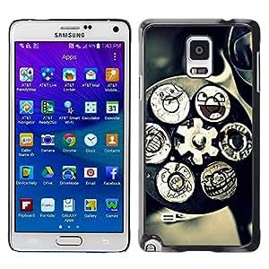 TECHCASE**Cubierta de la caja de protección la piel dura para el ** Samsung Galaxy Note 4 SM-N910 ** Technology Mechanism Art Smiley Funny