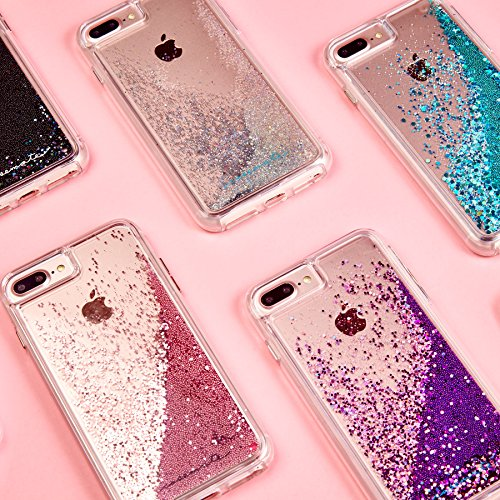new concept b755f bf4bc Case-Mate iPhone 8 Plus Case - WATERFALL - Cascading Liquid Glitter -  Protective Design for Apple iPhone 8 Plus - Rose Gold