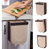 سلة مهملات معلقة للمطبخ، صندوق قمامة لمناهشة المطبخ قابل للطي لصناديق القمامة الصغيرة للخزانة / السيارة / غرفة النوم…