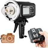 Godox AD600BM HSS Bowens Mount 600Ws GN87 High Speed Sync Outdoor Flash Strobe Light with X1T-N X1N Wireless Flash Trigger, 8700mAh Battery Pack to Provide 500 Full Power Flashes, Recycle in 0.01-2.5 Second, for Nikon (AD600BM+X1T-N)